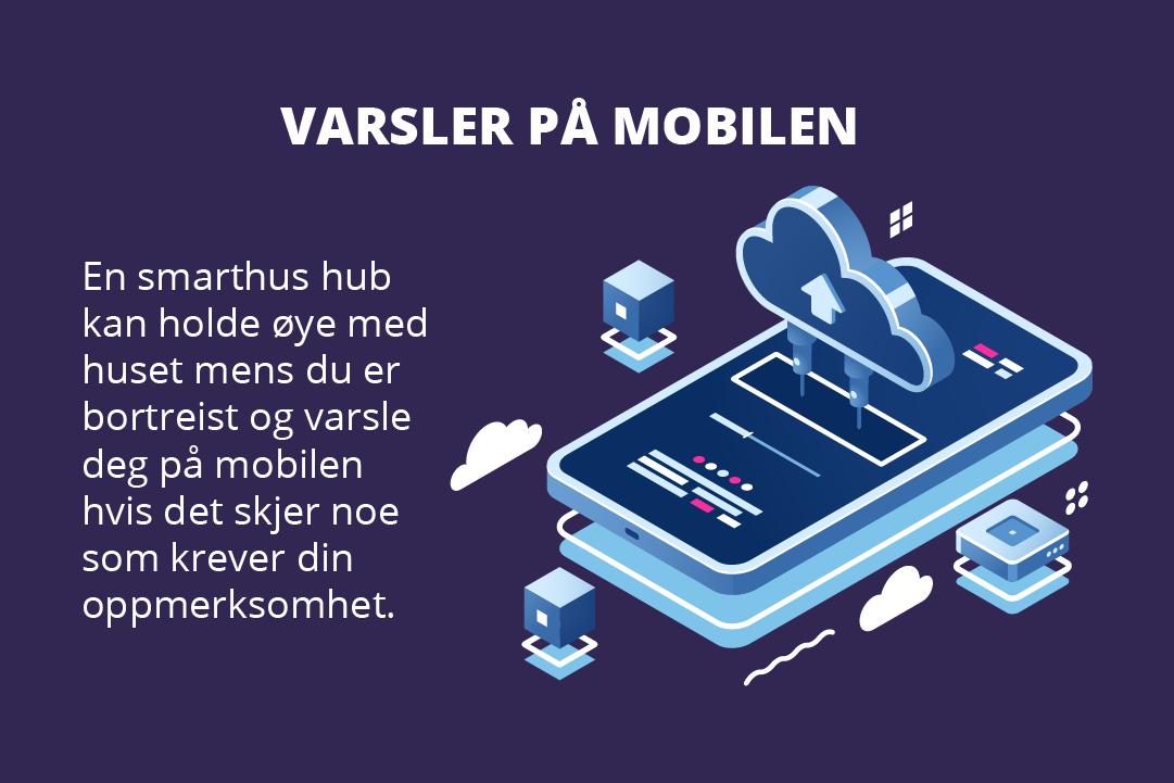 En smarthus hub passer på huset og varsler deg på mobilen om det skjer noe